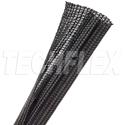 Photo of TechFlex F6N0.75BK-100 F6 Flexible Semi-Rigid Wrappable Split Braided Cable Sleeving - Black- 100 Foot
