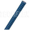 Techflex PTT0.31BNB - PET Tight Weave 5/16in Flexo Pet Bulk Spool 1000 ft - Black w/Neon Blue Tracer