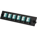 TechLogix ECO-P-M4-LC6D ECO Mounting Panel - 1 Slot - Multimode OM3/OM4 - 6 Duplex LC