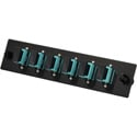 TechLogix ECO-P-M4-SC6S ECO Mounting Panel - 1 Slot - Multimode OM3/OM4 - 6 Simplex SC