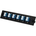 TechLogix ECO-P-S2-LC6D ECO Mounting Panel - 1 Slot - Single Mode OS2 - 6 Duplex LC