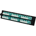 TechLogix ECO-P-M4-LC12D ECO Mounting Panel - 1 Slot - Multimode OM3/OM4 - 12 Duplex LC