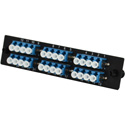 TechLogix ECO-P-S2-LC12D ECO Mounting Panel - 1 Slot - Single Mode OS2 12 Duplex LC