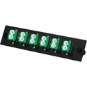 TechLogix ECO-P-S2-LCA6D ECO Mounting Panel - 1 Slot - Single Mode OS2 - 6 Duplex LC/APC (Angled)