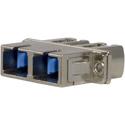 Techlogix S2M4D-ADPT-LCSC Fiber Optic Coupler - Duplex LC to SC Coupler - Compatible with Single Mode & Multimode Cable