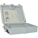 TechLogix TL-12P-DB-O Wall-Mount Fiber Distribution Box - 12 Port with Outdoor Rating (Requires Couplers)