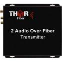 Thor Fiber F-2A-RCA-TXRX 2 Audio Fiber Optic Transmitter/Receiver Kit - 20Km Single Mode Fiber - 3000 Feet Multimode