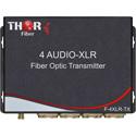 Thor Fiber F-4A-XLR-TXRX Four channel XLR Balanced Audio Over Fiber Transmitter/Receiver