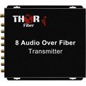 Thor Fiber F-8A-RCA-TXRX 8 Audio Fiber Optic Transmitter/Receiver Kit - 20Km Single Mode Fiber - 3000 Feet Multimode