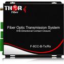Thor F-8CC-B-TXRX 4 Contact Closures / TTL Over Fiber Transmitter / Receiver Kit - 8 Bi-Directional - 12.4 Miles / 20km