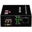 Thor Fiber F-GET-TR-SFP 10/100/1000 Ethernet Transceiver w/ SFP - 20km (12.4 Miles)