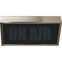 Titus LPL-HG Low Profile Horizontal Studio Warning Light - ON AIR in Gold Tone