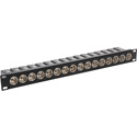 MCS TN-AESEBU16M 16-Port 1RU AES/EBU Impedance Transformer Patch Panel BNC Female to Rear XLR Male