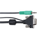 3 Foot Micro VGA with Stereo Audio Male-Male Cable