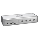 Tripp Lite B004-DUA4-K-R 4-Port Compact KVM Switch DVI / USB w/ Audio & Cables