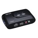 Tripp Lite B004-VUA2-K-R 2 Port KVM Switch (USB) Desktop with Audio & Cables