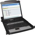 Tripp Lite B020-U16-19-IP 16-Port KVM Switch Rack-Mount Console IP 1U with 19 Inch LCD