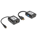 Tripp Lite B126-1A1-U-MCRO Micro-HDMI to HDMI over Cat5/Cat6 Active Extender Kit - USB Powered - Up to 125 Feet