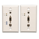 Tripp Lite B130-101A-WP-2 VGA with Audio over Cat5/Cat6 Extender Kit Wallplate TX/RX with EDID - 1000 Feet
