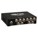 Tripp Lite B136-004 4-Port Component Video/Stereo Audio over Cat5/Cat6 Extender Splitter Box-Style Transmitter - 700 Ft