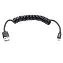 Tripp Lite M100-004COIL-BK USB Sync/Charge Coiled Cable with Lightning Connector (M/M) Black 4 feet