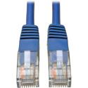 Tripp Lite N002-001-BL Cat5e 350MHz RJ45 M/M Blue Molded Patch Cable - 1 Foot