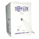 Tripp Lite N028-01K-GY Cat5e 350MHz Bulk Solid-Core PVC Outdoor-Rated Cable - Gray 1000 Feet