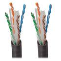Tripp Lite N222-01K-BK Cat6 Gigabit 550 MHz Bulk Solid PVC Cable - Black 1000 Feet