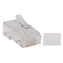 Tripp Lite N230-100 Cat6 RJ45 Modular Connector Plug with Load Bar Solid/Stranded Conductor Round Cat6 Wire 100-pack