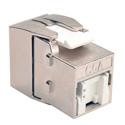 Tripp Lite N238-001-SH-TFA Toolless Shielded Cat6a Keystone Jack - Gray