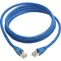 Tripp Lite N262-012-BL Cat6a Ethernet Cable 10G STP Snagless Shielded PoE - Male/Male - Blue - 12 Foot