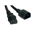 Tripp Lite P005-002 Heavy-Duty Power Extension Cord 15A 14 AWG (IEC-320-C14 to IEC-320-C13) 2 Feet