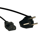 Tripp Lite P054-006 6ft Power Cord Adapter 10A 250V C13 to European Schuko Plug 6 Foot