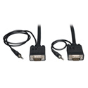 Tripp Lite P504-010 VGA Coax Monitor Cable with Audio High Resolution Cable with RGB Coax (HD15 and 3.5mm M/M) 10 Feet
