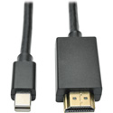 Tripp Lite P586-012-HDMI Mini DisplayPort to HDMI Cable Adapter Audio Video M/M 12 Feet