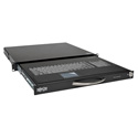 Tripp Lite SRSHELFKBD SmartRack 1U Rackmount Keyboard with KVM Cable Kit