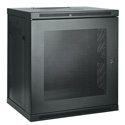 Tripp Lite 12U Low-Profile Wall-Mount Rack Enclosure Cabinet Removable Side Panels 25H x 24W x 18D