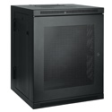 Tripp Lite 15U Low-Profile Wall-Mount Rack Enclosure Cabinet Double Hinge Removable Side Panels 30H x 24W x 22D