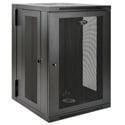 Tripp Lite 18U Wall-Mount Rack Enclosure Cabinet Double Hinge Removable Side Panels 36H x 24W x 26D