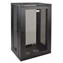 Tripp Lite 21U Low-Profile Wall-Mount Rack Enclosure Cabinet Removable Side Panels 41H x 24W x 18D
