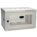 Photo of Tripp Lite 6U Low-Profile Wall-Mount Rack Enclosure Cabinet White Removable Side Panels 15H x 24W x 18D