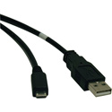Tripp Lite U050-003 USB 2.0 Hi-Speed A to Micro-B Cable (M/M) 3 Feet