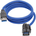 Tripp Lite U324-003-KJ USB 3.0 SuperSpeed Keystone Jack Type-A Extension Cable (M/F) 3 Feet