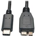 Photo of Tripp Lite U426-003 USB 3.1 Gen 1 (5 Gbps) Cable USB Type-C (USB-C) to USB 3.0 Micro-B M/M 3 Feet Length