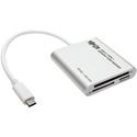 Tripp Lite U452-003 USB 3.1 Gen 1 USB Type-C (USB-C) Multi-Drive Smart-Card Flash-Memory Media Reader/Writer