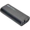 Tripp Lite UPB-05K2-1U Portable 5200mAh Mobile Power Bank USB Battery Charger with LED Flashlight - Li-Ion