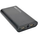 Tripp Lite UPB-12K0-2U Portable 12000mAh Dual-Port Mobile Power Bank USB Battery Charger with LED Flashlight - Li-Ion