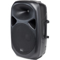 Tourtek GPA15A 15 Inch Powered Bluetooth Loudspeaker with Balanced and Unbalanced Inputs - Each