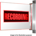 Titus Technological Labs BPL-R-R-W Blade Plexiglass RECORDING Light with Red LEDs and White Powder Coat