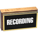Horizontal Studio Warning Light - Recording in Gold Lettering